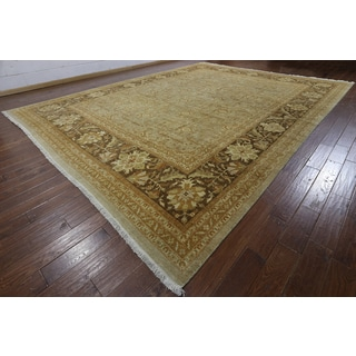 Hand-knotted Peshawar Brown Wool Rug (12'2 x 15'10)