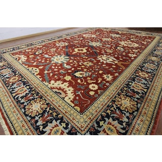 Hand-knotted Persian Red Wool Rug (14' x 19'9)