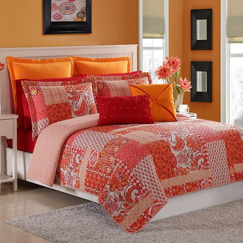 Fiesta Marchia 2 & 3 Reversible Cotton Quilt Set