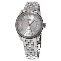 Oris Unisex 733 7671 4461 MB 'Artix GT Date' Silver Dial Stainless Steel Swiss Automatic Watch