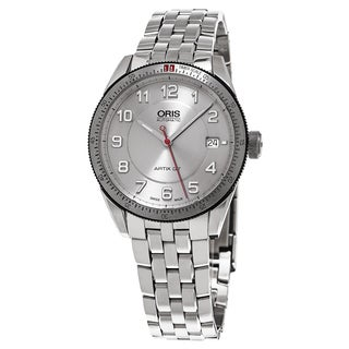 Oris Unisex 733 7671 4461 MB 'Artix GT Date' Silver Dial Stainless Steel Swiss Automatic Watch