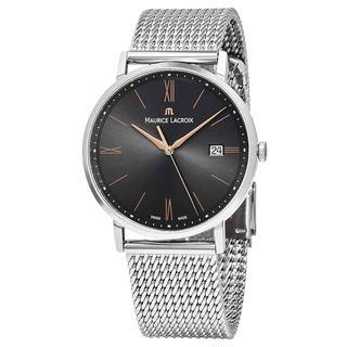 Maurice Lacroix Men's EL1087-SS002-812 'Eliros' Grey Dial Stainless Steel Swiss Quartz Watch