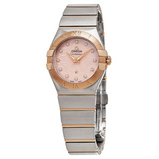 Omega Women's 123.20.27.60.57.004 'Constellation' Coral Mother of Pearl Dial Two Tone Swiss Quartz Watch