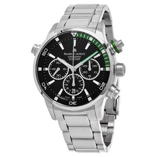 Maurice Lacroix Men's PT6018-SS002-331 'Pontos' Black Dial Stainless Steel Chronograph Swiss Automat