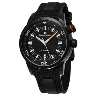 Maurice Lacroix Men's PT6248PVB013-321 'Pontos Diver' Black Dial Black Rubber Strap Swiss Automatic Watch