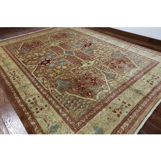 Hand-knotted Ziegler Multicolor Wool Rug (8'1 x 10'4)