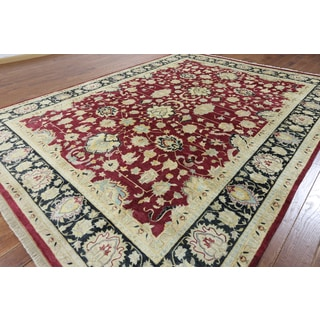 Hand-knotted Oriental Tabriz Wool Rug (9'2 x 12'1)