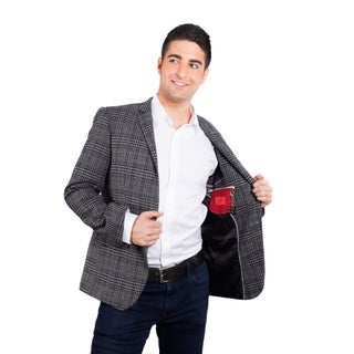 Elie Balleh Milano Italy Men's Cotton 2015 Style Slim Fit Jacket/Blazer