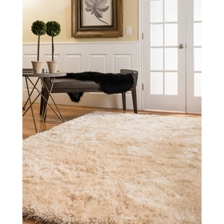 Natural Area Rugs Handtufted Orlando Gold Shag Rug  (8' x 10') with Bonus Rug Pad
