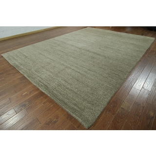 Hand-knotted Moroccan Berber Natural Wool Rug (10'5 x 13'10)