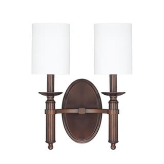 Capital Lighting Covington Collection 2-light Burnished Bronze Wall Sconce