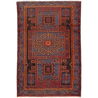 Ecarpetgallery Hand-knotted Persian Zanjan Red Wool Rug (4'3 x 6'7)
