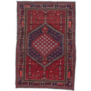 Ecarpetgallery Hand-knotted Persian Asadabad Red Wool Rug (4'4 x 6'4)