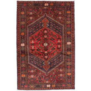 Ecarpetgallery Hand-knotted Persian Hamadan Orange Wool Rug (4'4 x 6'8)