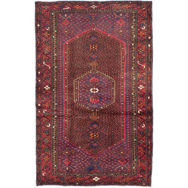 Ecarpetgallery Hand-knotted Persian Darjazin Blue and Orange Wool Rug (4'1 x 6'4)