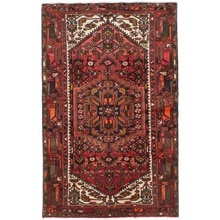 Ecarpetgallery Hand-knotted Persian Hamadan Brown and Red Wool Rug (4'2 x 6'7)