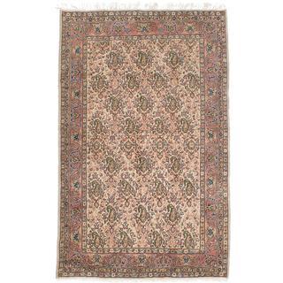 Ecarpetgallery Hand-knotted Melis Vintage Beige Wool Rug (4'2 x 6'10)