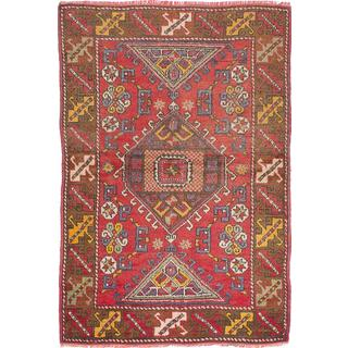 Ecarpetgallery Hand-knotted Anatolian Vintage Red Wool Rug (4'3 x 6'3)
