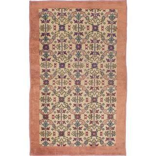 Ecarpetgallery Hand-knotted Melis Vintage Beige Wool Rug (4'1 x 6'6)