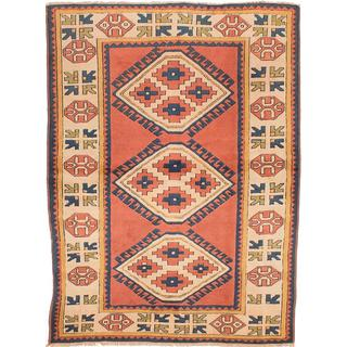 Ecarpetgallery Hand-knotted Antique Shiravan Brown Wool Rug (5' x 6'10)