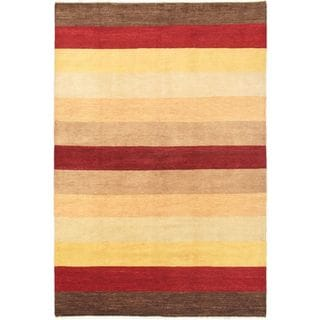 Ecarpetgallery Hand-knotted Finest Ziegler Chobi Beige and Red Wool Rug (6'10 x 10'2)