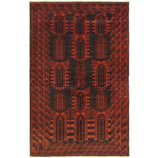 Ecarpetgallery Hand-knotted Royal Balouch Red Wool Rug (6'7 x 10'2)