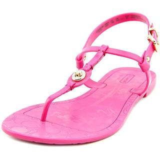 Coach Women's 'Pier Shiny Jelly' Pink Synthetic Sandals