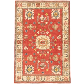 Ecarpetgallery Hand-knotted Finest Gazni Brown Wool Rug (7'10 x 11'8)