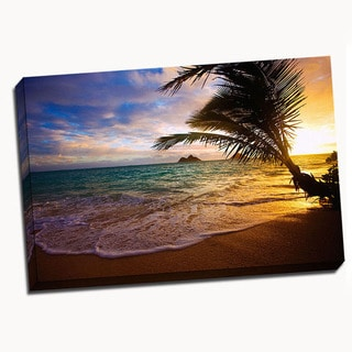 Lanikai Beach Canvas Printed on Canvas Stretched Framed Ready to Hang