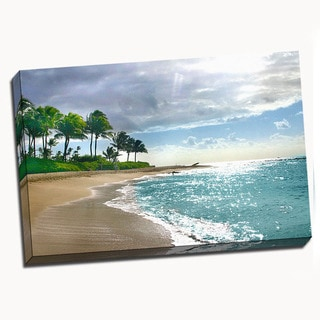 Kauai Shore Canvas Printed on Canvas Stretched Framed Ready to Hang