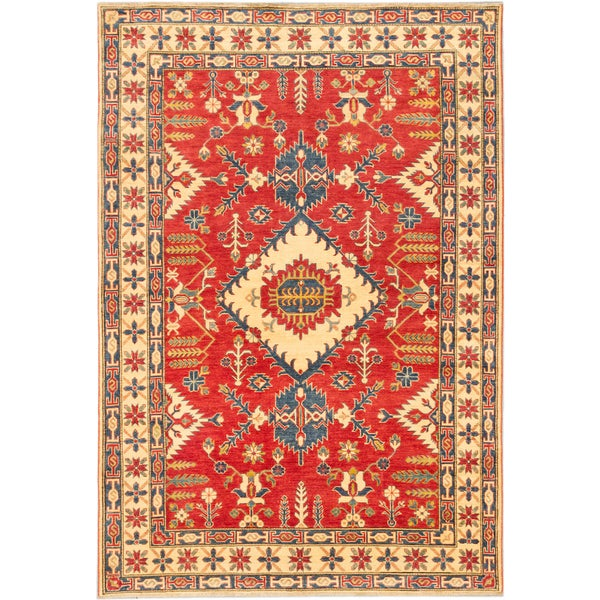 Ecarpetgallery Hand-knotted Finest Gazni Red Wool Rug (6'11 x 10'2)