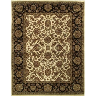 Ecarpetgallery Hand-knotted Mirzapur Beige and Brown Wool Rug (7'10 x 10'1)