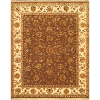 Ecarpetgallery Hand-knotted Harrir Select Brown Wool and Silk Rug (8' x 10'1)