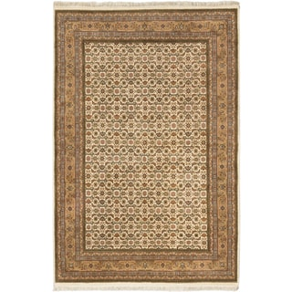 Ecarpetgallery Hand-knotted Royal Mahal Beige Wool Rug (6'8 x 10')