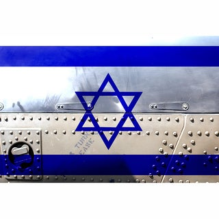 Israel 12x18 Flag Ready to Hang Metal Print