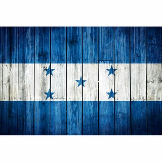 Honduras 12x18 Flag Ready to Hang Metal Print