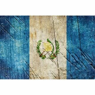 Guatemala 12x18 Flag Ready to Hang Metal Print