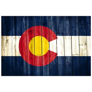Colorado 18x12 National Patriotic Flag Ready to Hang Metal Print