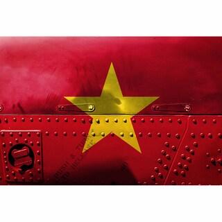 China 12x18 Flag Ready to Hang Metal Print