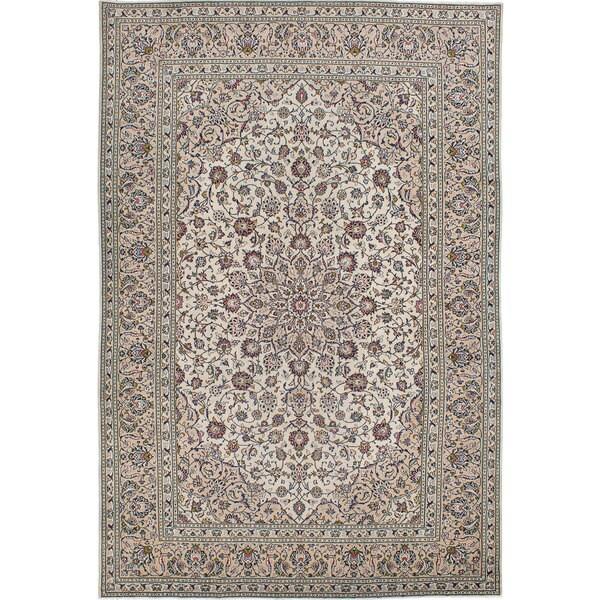 Shop Ecarpetgallery Hand Knotted Persian Kashan Red Wool: Shop Ecarpetgallery Hand-knotted Persian Kashan Beige Wool