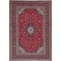 Ecarpetgallery Hand-knotted Persian Kashan Red Wool Rug (8' x 11'6)