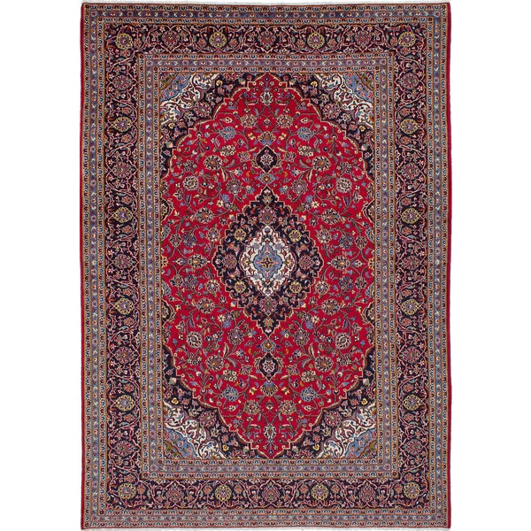 Persian Hand Knotted Kashan Silk And Wool Area Rug Ebth: Shop Ecarpetgallery Hand-knotted Persian Kashan Red Wool