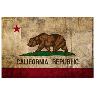 California State Flag 18x12 Ready to Hang Metal Print