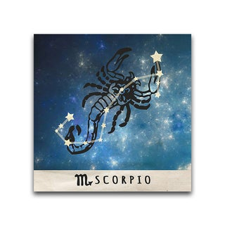 Scorpio Zodiac Metal Printed on Metal
