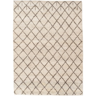 Ecarpetgallery Hand-knotted Royal Maroc Beige Wool Rug (5'1 x 6'10)