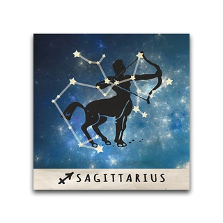 Sagittarius Zodiac Metal Printed on Metal