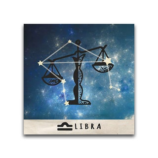 Libra Zodiac Metal Printed on Metal