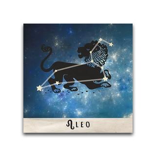 Leo Zodiac Metal Printed on Metal