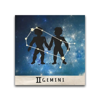 Gemini Zodiac Metal Printed on Metal