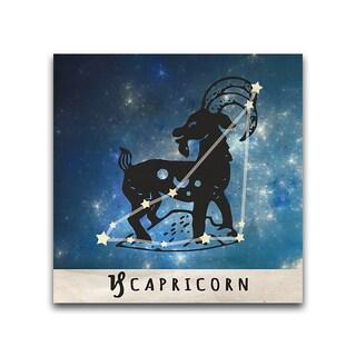 Capricorn Zodiac Metal Printed on Metal